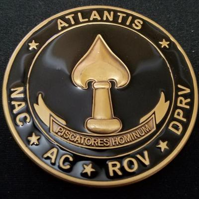 CIA DOD Helms Center Project Atlantis Custom Challenge Coin by Phoenix Challenge Coins