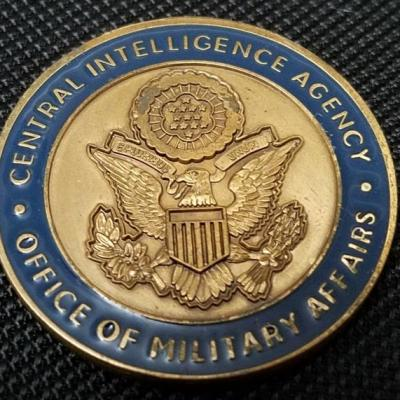 Rare Authentic Central Intelligence Agency CIA Office of Military Affairs Challenge Coin back
