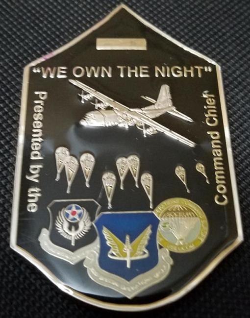 Rare 352d Special Operations Group Command Chief Master Sergeant Chevron Shaped Challenge Coin
