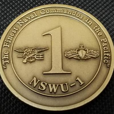 US Navy Special Warfare Unit 1 Navy Seal Team Special Boat Unit Guam Challenge Coin