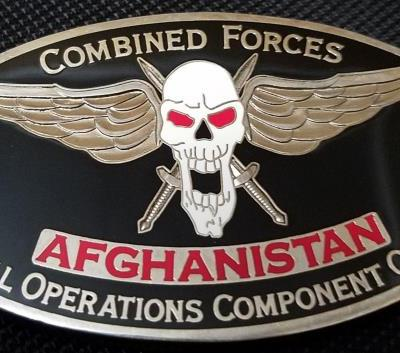 Combined Forces Special Operations Component Command Afghanistan CG and CSM Large Oval Challenge Coin