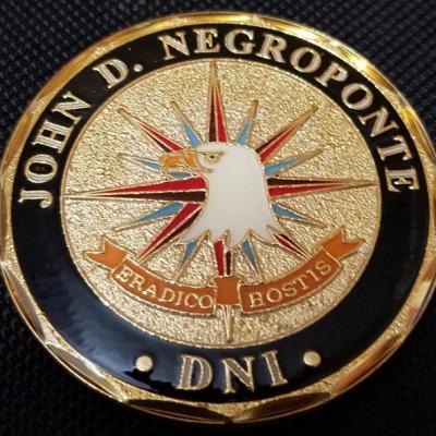 US Intelligence Community Director of National Intelligence John Negroponte Challenge Coin back