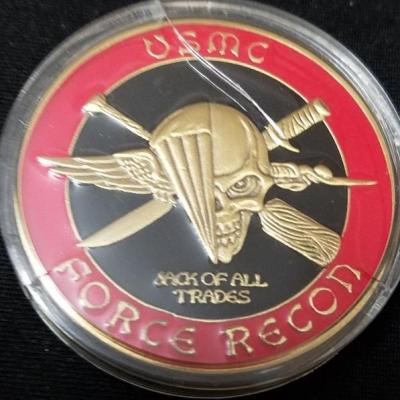 USMC Force Recon Challenge Coin back