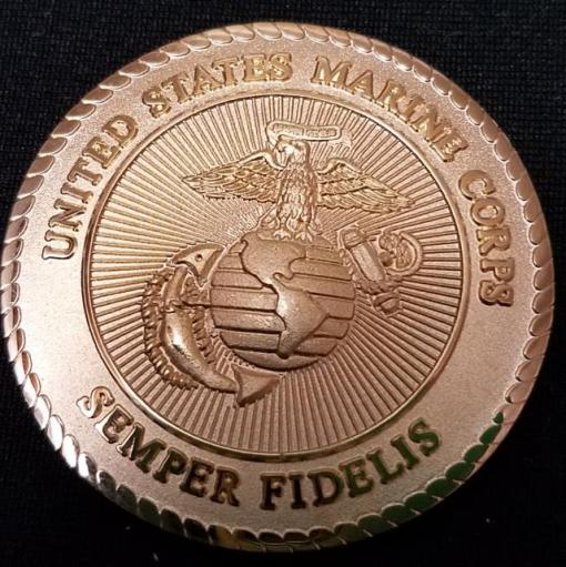 Rare USMC Scout Sniper School Instructor 8541 v2 challenge coin