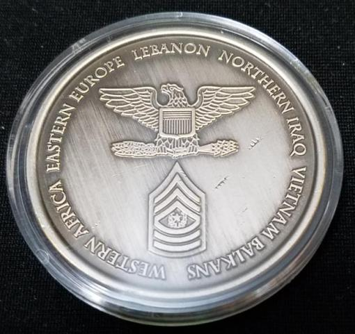 10th SFG (A) 10th Special Forces Group Command Team Challenge Coin back