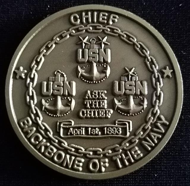 Naval Special Warfare Group 3 NSWG-3 Navy Chief Goat locker Challenge Coin back