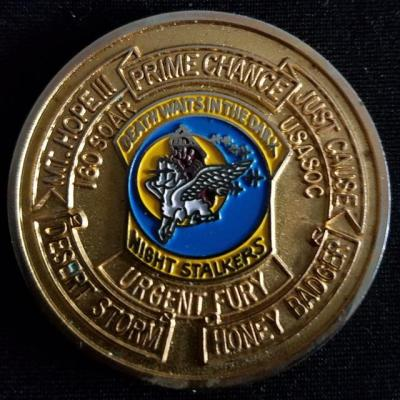 ARSOAC 160th Special Operations Aviation Regiment 160TH SOAR(A) Night stalkers v2 Challenge Coin