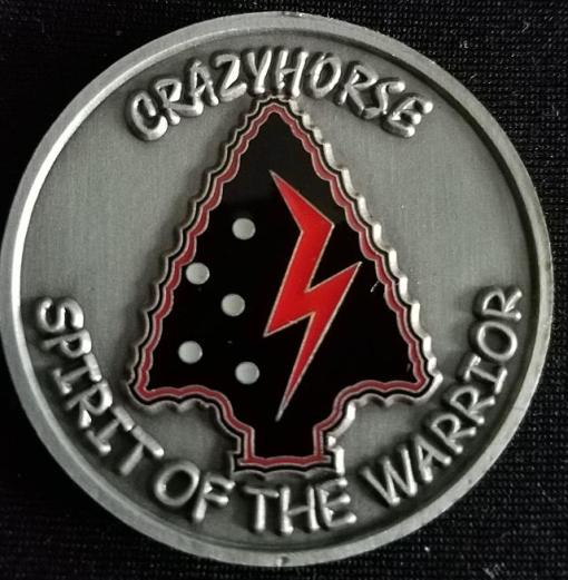 ARSOAC 160th Special Operations Aviation Regiment 160TH SOAR(A) A/2 A company 2nd Battallion CRAZYHORSE SPIRIT OF THE WARRIOR Night stalkers V2 Challenge Coin