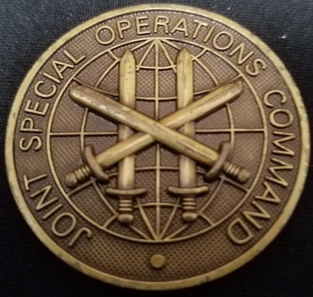 JSOC SEA Joint Special Operations Command Command Master Chief Challenge Coin