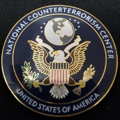 Rare US Intelligence Community National Counter Terrorism Center NCTC V2 challenge coin