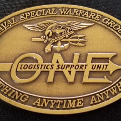 US Naval Special Warfare Group 1 Logistics Support Unit 1 NSWG-1 LSU-1 Navy Seal Commanders challenge coin