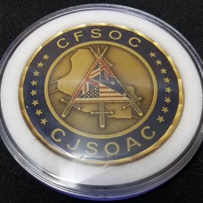 Rare CFSOC CJSOAAC OIF Combined Forces Special Operations Command Combined Joint Special Operations Air Component Command V1 Deployment Challenge Coin back