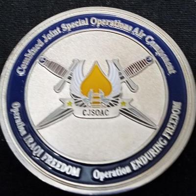Rare CFSOC CJSOAAC OIF Combined Forces Special Operations Command Combined Joint Special Operations Air Component Command V2 Deployment Challenge Coin