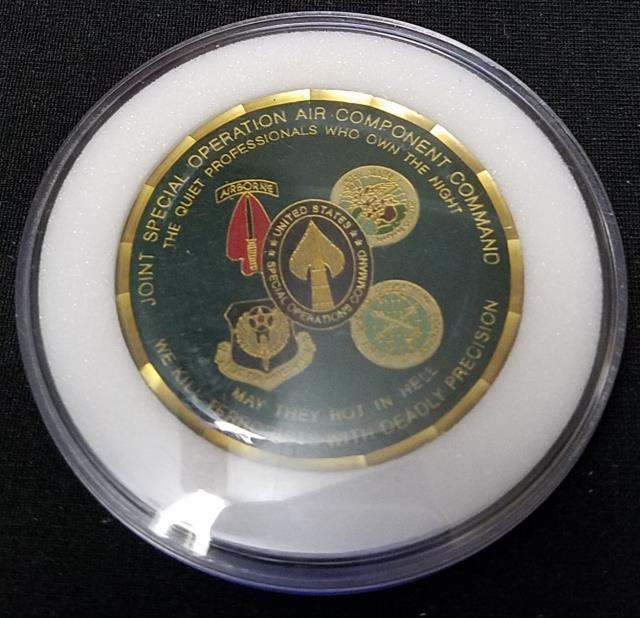 Rare CFSOC CJSOAAC OIF Combined Forces Special Operations Command Combined Joint Special Operations Air Component Command V3 Deployment Challenge Coin back