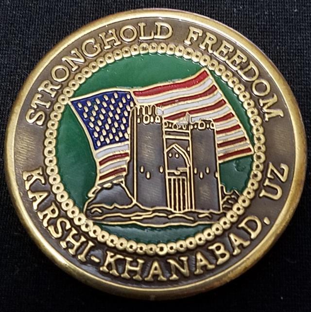 Original Task Force Dagger TF-Dagger K2 Kashi Kanabad Uzbekistan Stronghold Freedom Deployment 2001 Challenge Coin