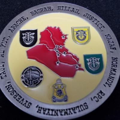 C Troop 1/102nd Comanche Troop 1st Battalion 102nd Cavalry Regiment CJSOTF-AP Combat Deployment OIF 08-09 challenge coin by Phoenix Challenge Coin back