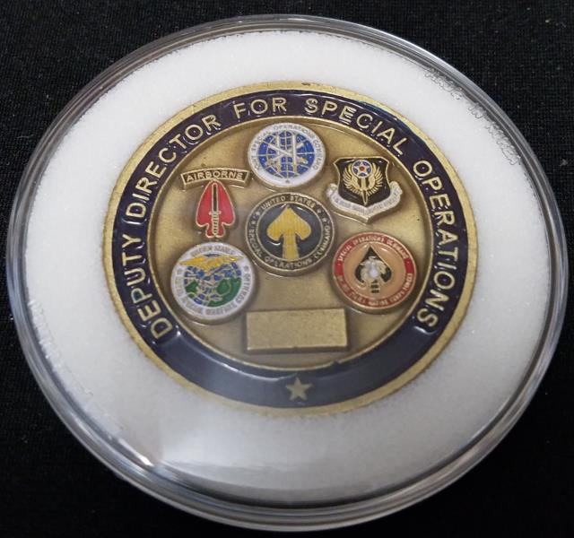 Rare Joint Chiefs of Staff Director for Special Operations Challenge Coin back