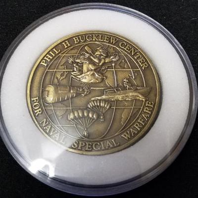 NAVSPECWARCOM BUDS SEAL Phillip H Bucklew Center Challenge Coin