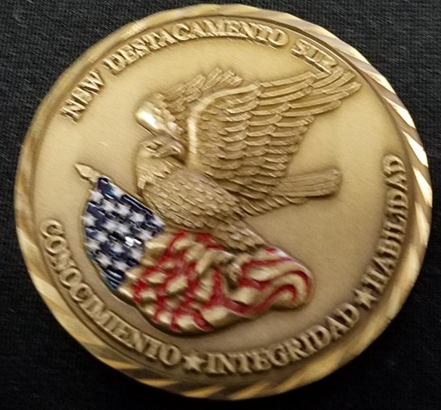 Rare NAVSPECWARCOM Det South Naval Special Warfare Command Detachment South SOCSOUTH challenge coin back