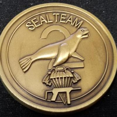 US Naval Special Warfare Navy Seal Team 2 Challenge Coin