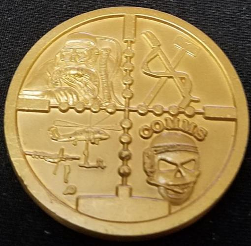 US Naval Special Warfare Command Navy Seal Advanced Training Command Detachment Little Creek Challenge Coin back