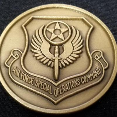 AFSOC Air Force Special Operations Command Coin Round challenge coin