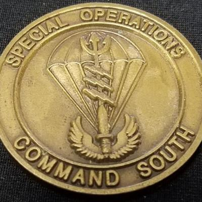 CINCSOCSOUTH Special Operations Command South TSOC Theater Component Special Operations Command Commanding General 1 star BG Challenge Coin