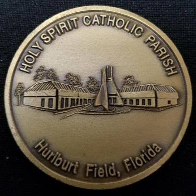 Holy Spirit Catholic Parish Hurlburt Field Church Religious Challenge Coin