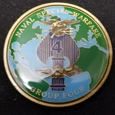 Naval Special Warfare Group 4 NSWG-4 Round Challenge Coin