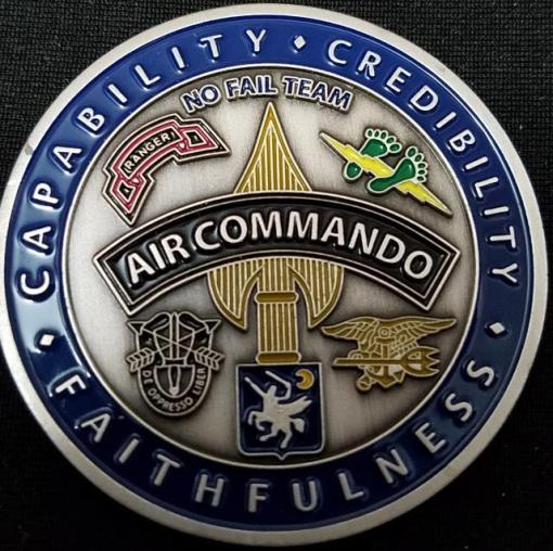 USAF AFSOC 16th SOW 16Th Special Operations Wing Commander V2 Challenge Coin back