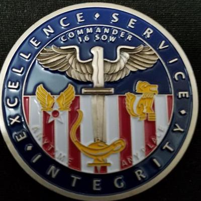 USAF AFSOC 16th SOW 16Th Special Operations Wing Commander V2 Challenge Coin