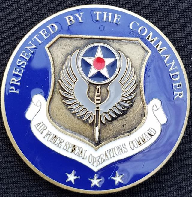 CINCAFSOC USAF US Air Force Special Operations Command 3 star Commanding General Challenge Coin
