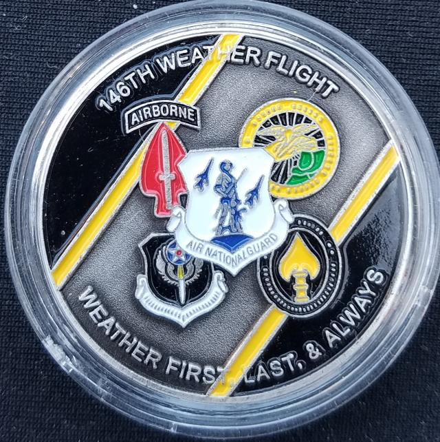 PAANG AFSOC 146th Weather Flight Challenge Coin back