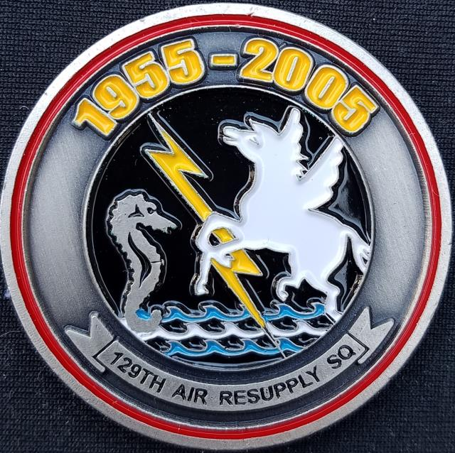 Rare USAF AFSOC 129th RW 50th Anniversary US Air Force Special Operations  Command 129th Rescue Wing Challenge Coin - Phoenix Challenge Coins