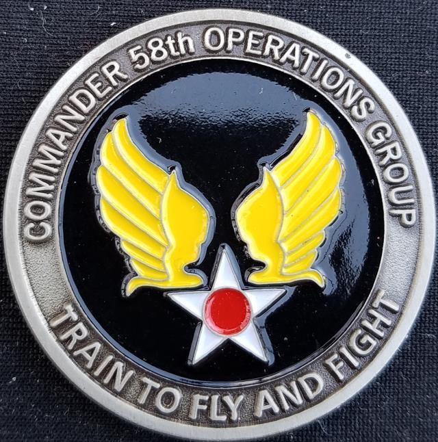 AFSOC 58th SOG US Air Force Special Operations Command 58th Special  Operations Group Commanders Challenge Coin - Phoenix Challenge Coins