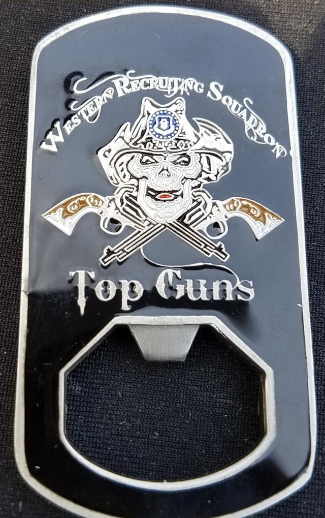 US Air Force Western Recruiting Squadron Commander Dog Tag Bottle Opener  Challenge Coin - Phoenix Challenge Coins