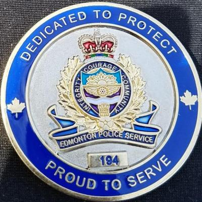 Edmonton Canada Chief of Police Challenge Coin
