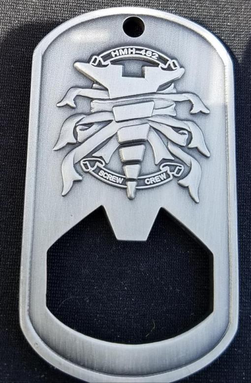HMH-262 Screw Crew OIF 09-10 Deployment bottle Opener Challenge Coin by Phoenix Challenge Coins