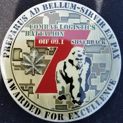 USMC CLB-7 Silverback OIF Commanders Deployment Challenge Coin by Phoenix Challenge Coins back