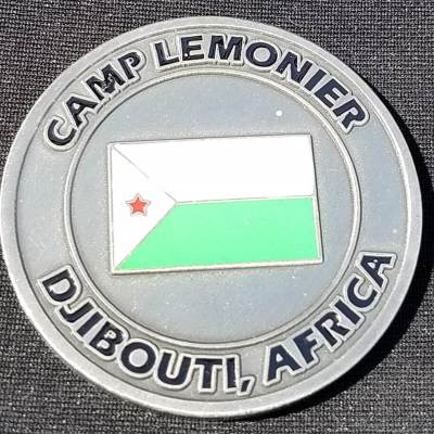 Joint Base Camp Lemonier Djibouti TK1 Expansion Custom Challenge Coin By Phoenix Challenge Coins back