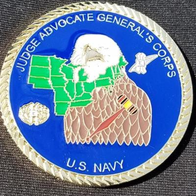 USN JAG Judge Advocate Generals Corp Eastern Command Washington DC Command Team Coin by Phoenix Challenge Coins