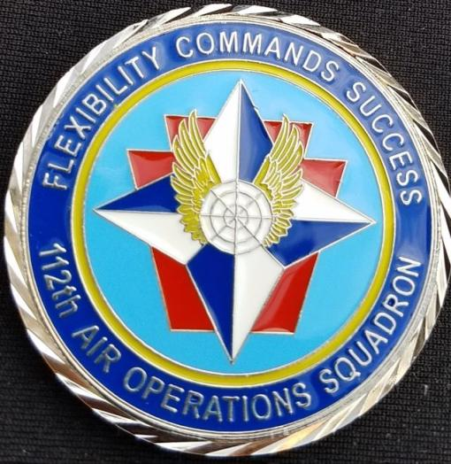 112th AOS PA ANG Unit coin by Phoenix Challenge Coins