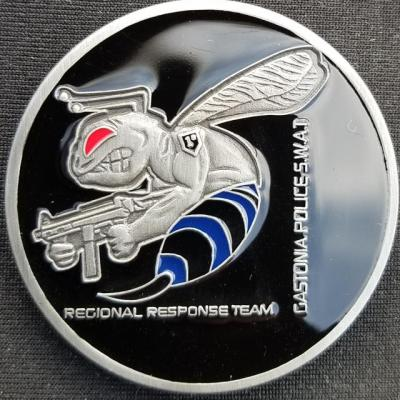 Gastonia Police Swat Team Custom Challenge Coin by Phoenix Challenge Coins back