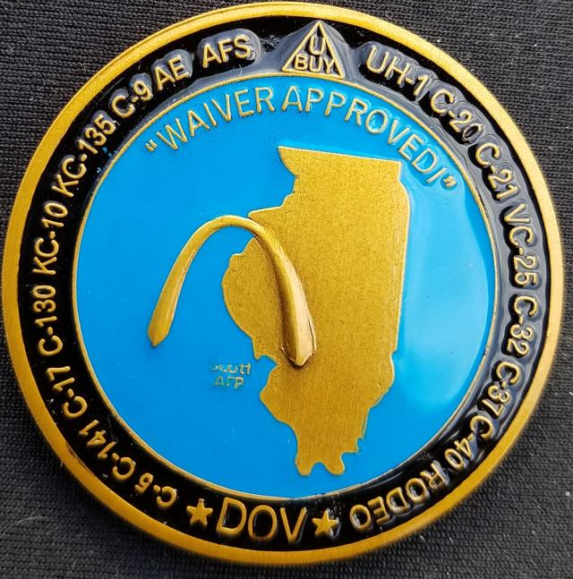 Air Mobility Command Standards ad Eval Spinner Challenge Coin by Phoenix Challenge Coins