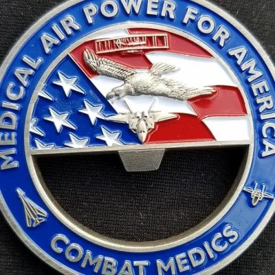 81st Medical Group Bottle Opener Gen Corum Custom Unit Coin by Phoenix Challenge Coins back