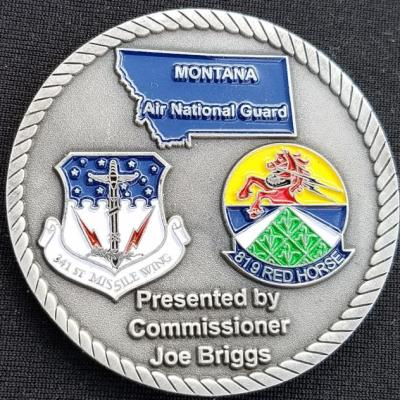 Cascade Montana County Commissioner Joe Briggs Personal Presentation Coin by Phoenix Challenge Coins back