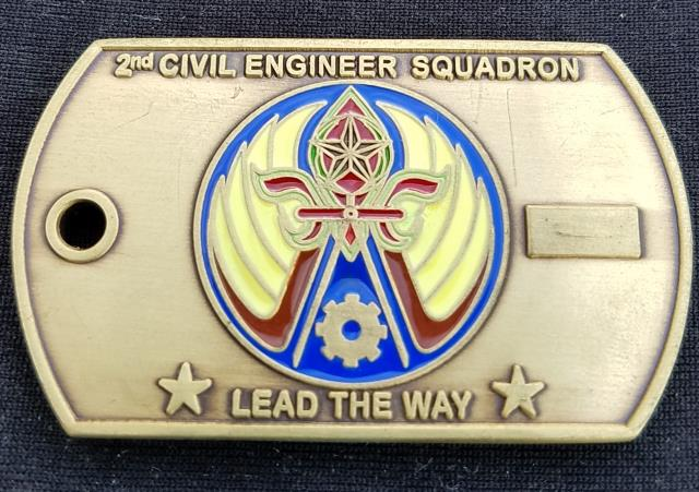 USAF 2 CES 2nd Civil Engineer Squadron Combat Dining in 2010 Dog tag  Challenge coin - Phoenix Challenge Coins