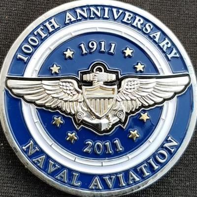 Sporty's Wright Brothers Collection 100th Anniversary of Naval Aviation Custom Challenge Coin by Phoenix Challenge Coins