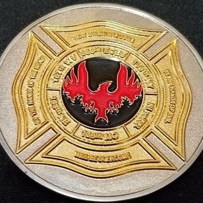 USAF 335th ECES Operation New Dawn Deployment Fire House Challenge Coin By Phoenix Challenge Coins