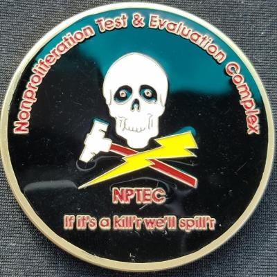 US Gvt Joint Task Force NBC NPTE Non-Proliferation Test and Evaluation Complex Challenge Coin